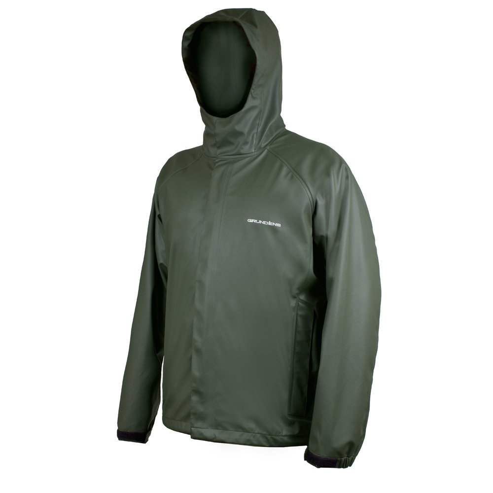 Grundéns Men's Neptune Fishing Jacket, Green - Large by Grundéns