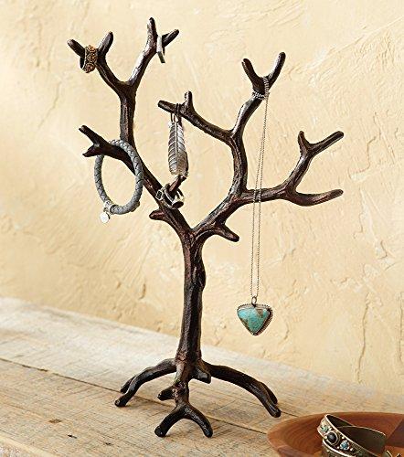 Black Forest Decor Metal Branch Jewelry (Twig Jewelry Tree)