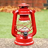 PK Green LED Storm Lamp | Retro Hurricane Lantern Light with Dimmer | Battery Operated Vintage Oil Lamp | Decorative Indoor Table/Hanging Lantern for Home, Garden, Theatre Plays, Productions | Re