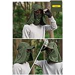 quanjucheer Capuchon de pêche, Protection UV extérieur pour Le Visage, Le Cou, la tête et la visière 12