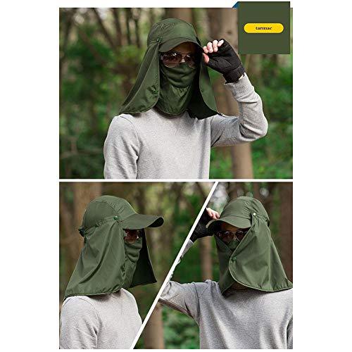 quanjucheer Capuchon de pêche, Protection UV extérieur pour Le Visage, Le Cou, la tête et la visière 5