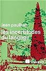 Les incertitudes du langage par Paulhan