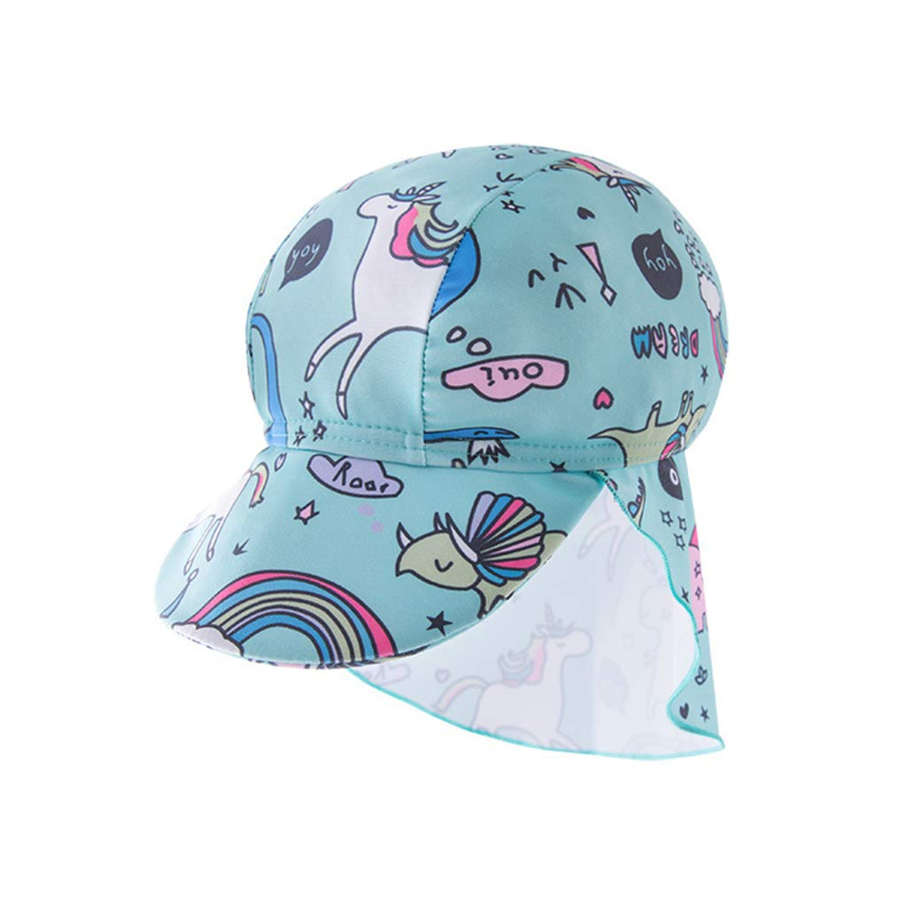 Kids Swimsuits Toddler Sun Protection Swimwear Girls Flamingo Surfwear One Pieces Wetsuits UPF 50 UV Sunsuit with Swimming Cap