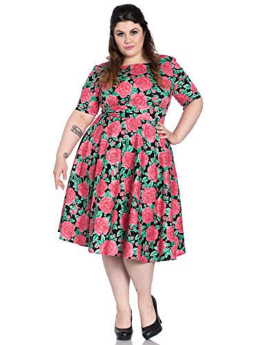 Mehrfarbig Darcy Hell Dress 50's Kleid 4800 Bunny AqxOYB