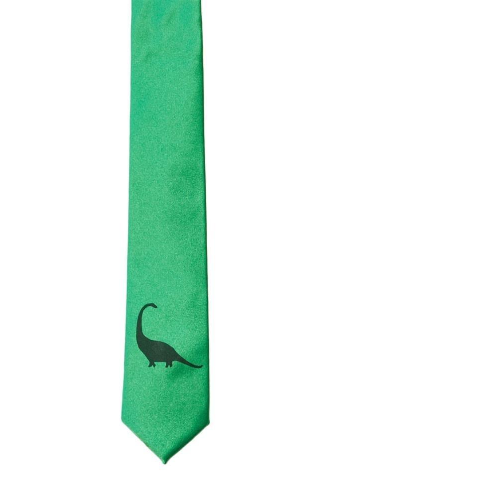 Dinosaur Skinny Tie - Kelly Green