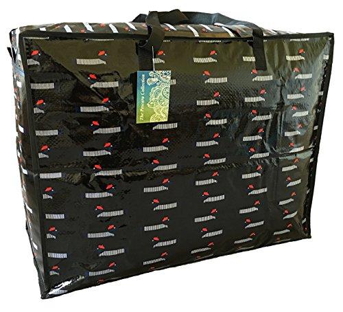 Groß Schwarzer Aufbewahrungstasche 65 Liter. Dachshund in Barette Muster. Spielzeug, Waschen und Wäschesack