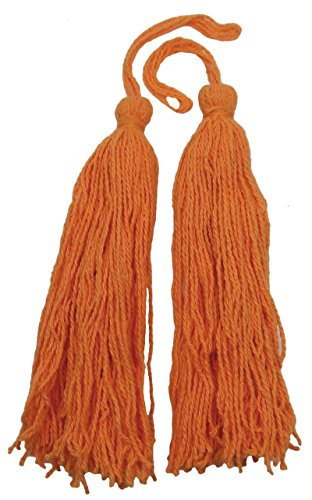 - Decorative Orange Salwar Kameez Thread Crafting Latkans Tassels Supply 1 Dozen