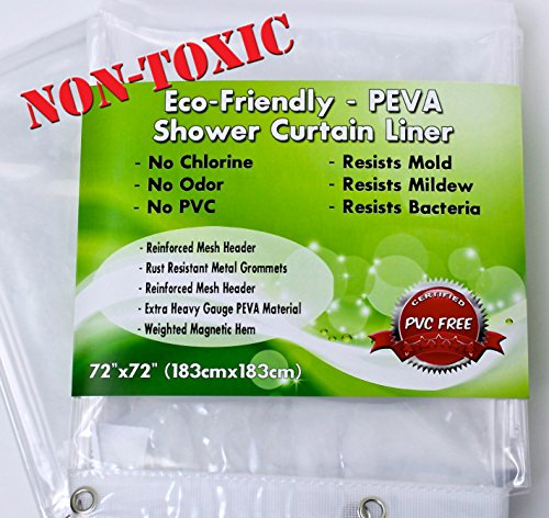 premium peva shower curtain liner non toxic environmentally friendly ultra clear mildew. Black Bedroom Furniture Sets. Home Design Ideas
