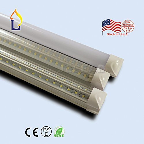 (10 PACK) Integrated 4ft 1200mm 40W Double Row Sides Led T8 V integrated shape Tube light For cooler and store - Store Row