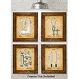Original Medical Patent Art Prints - Set of Four Photos (8x10) Unframed - Great Gift for Doctors, Nurses, Nursing Students