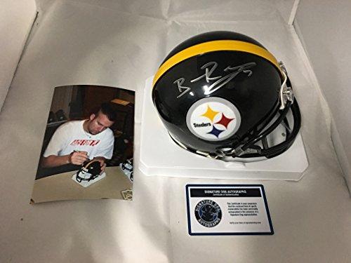 Ben Roethlisberger Signed Autographed Steelers Mini Helmet Authentic COA & Hologram (Signed Helmet)