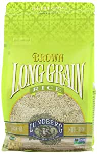 Lundberg Family Farms Long Grain Rice, Brown, 32 Ounce (Pack of 6)