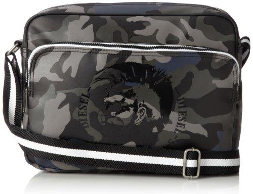 Diesel Camou Happy Days Potsie Cross Body Bag,Black Camouflage,One Size