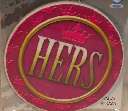 AutoCoaster ~ Hers ~ Tile Drink Coaster for car cupholder ~ code 402