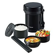 Zojirushi thermal insulation lunch box stainless steel lunch jar [bowl about 3 cups] SL-GH18-BA