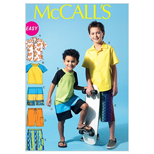 Patterns Sewing 3 - McCall Patterns M6548 Children's/Boys' Shirt, Top and Shorts, Size CCE (3-4-5-6)