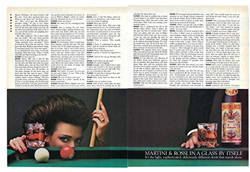 (1985 Vintage Two Page Ad for Martini & Rossi Vermouth | in a Glass by Itself)