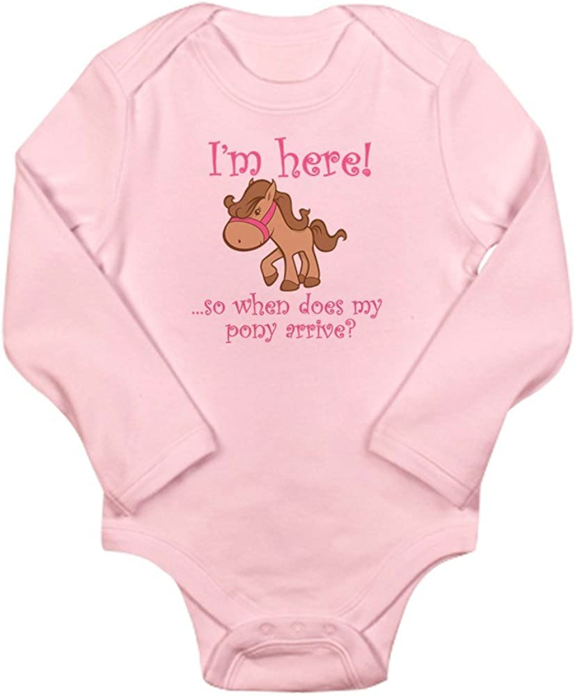 CafePress Ponyarrive/_Pink Body Suit Cute Long Sleeve Infant Bodysuit Baby Romper
