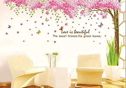 Amazon.com: Jessie≤tty Large Pink Sakura Flower Cherry Blossom ...