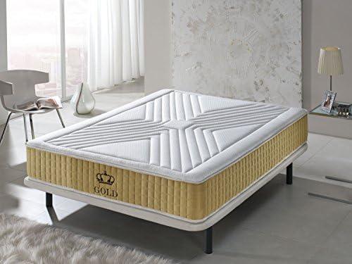 Living Sofa COLCHÓN COLCHONES VISCOELASTICO VISCOELASTICA Gold con Nano-PARTÍCULAS DE Oro: Amazon.es: Hogar