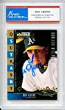 Ben Grieve Autographed Oakland Athletics Encapsulated Trading Card - Certified Authentic