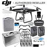 DJI Phantom 4 PRO Obsidian Edition Drone Quadcopter (Black) Essential Aluminum Carrying Case Bundle
