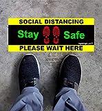 "Social Distancing Sticker (Floor or Wall) 16"" x"