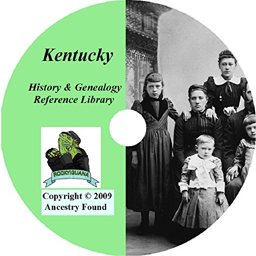 - Kentucky History & Genealogy on DVD -104 books, Ancestry, Records, Family