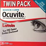 Bausch+Lomb Ocuvite Eye Vitamin & Mineral Supplement Twin Pack (2×120) Tablets For Sale
