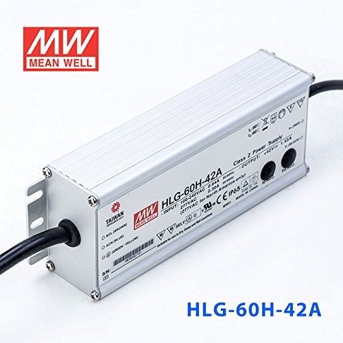 Meanwell HLG-60H-42A Power Supply - 60W 42V 1.45A - IP65 - Adjustable Output