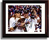 "Framed Aaron Rodgers & Clay Matthews ""Championship Belt & Trophy"" Autograph R..."