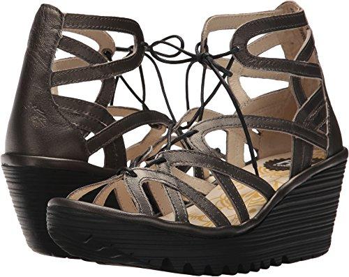 - FLY London Women's YUKE663FLY Wedge Sandal, Anthracite Grace, 40 M EU (9-9.5 US)