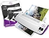Purple Cows Hot and Cold 9'' Laminator | Warms up in just 3 - 5 minutes with 50 pouches / pockets