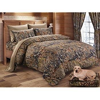 Amazoncom Mossy Oak BreakUp Infinity Mini Comforter Set Queen