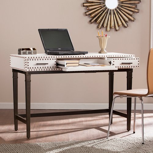 - Capri Desk in Stark White and Black