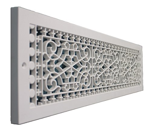 SMI Ventilation Products VBB628 Cold Air Return - 6 in x 28 in Victorian Style Base Board - Overall Dimensions 8 in x 30 - X 8 Inch Overall 8