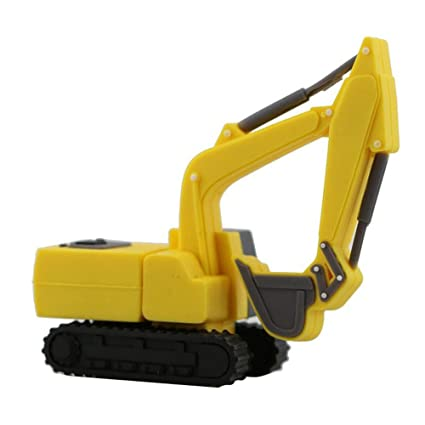 Amazon com: 16GB Yellow Excavator Model USB Flash Drives PenDrive