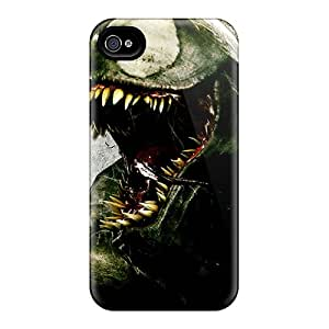 Perfect Hard Cell-phone Cases For Apple Iphone 4/4s (xui23385PdiG) Allow Personal Design Realistic Venom I4 Pattern