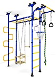 Indoor Kids Climbing Playground Set, Kids Room Playset: Rope, Swing, Rings, Trapeze