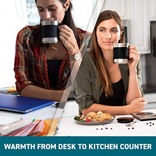 Cosori Coffee Mug Warmer & Mug Set,Electric 24Watt Beverage Cup Warmer for Desk Home Office Use,304 Stainless Steel 17oz Mug w/ Lid,Touch Tech & LED Backlit Display,Ideal for Gift,Coffee,Tea, Hot Cocoa by COSORI (Image #8)