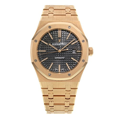 Audemars Piguet Royal Oak Automatic Black Dial 18kt Rose Gold Bracelet Mens Watch 15400OROO1220OR01
