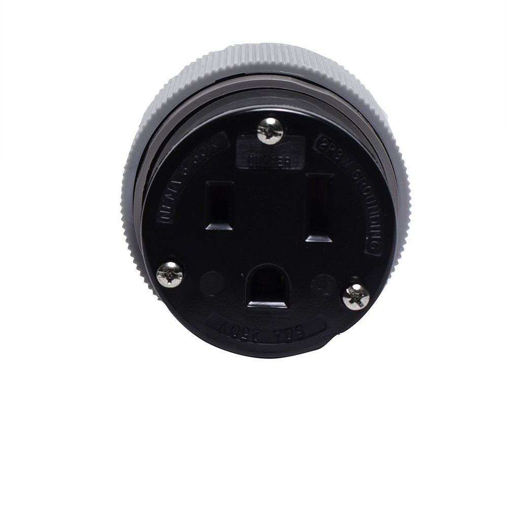 Eaton 6709N 50 Amp 250V 6-50 Power Connector, Gray & Black by Eaton