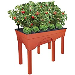 "Emsco Group Big Easy Picker Raised Bed Grow Box – 30"" Elevated Height – Self-Watering and Improved Aeration – Larger 48"" x 20"" Design"