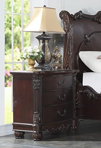 Roundhill Furniture Saillans Solid Wood Construction Fully Assembled Night Stand