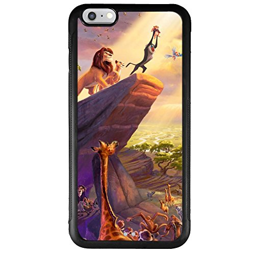 "iPhone 6 Plus 5.5"" case, Onelee Disney Cartoon Movie The Lion King Tire tread pattern TPU Rubber Black iPhone 6s Plus 5.5""s Case Neverfade Scratchproof Case"
