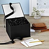 "Hallmark 7"" Large Black Gift Box with Lid and"