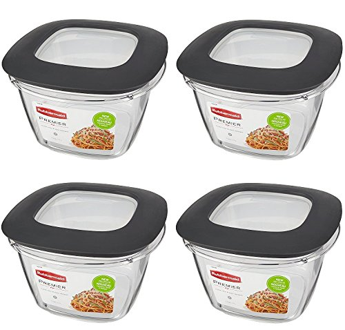 Rubbermaid Premier Food Storage Container (Gray, 7 Cup)