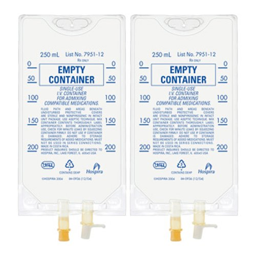 Empty IV Bag Container - 250ml - Pack of (Empty Iv Bags)