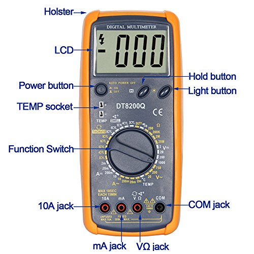 OLSUS DT-8200Q LCD Handheld Digital Multimeter for Home and Car - Gray by OLSUS (Image #5)