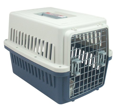 IRIS Puppy or Dog Airline Travel Carrier Cage, 25 Pounds, Blue, My Pet Supplies